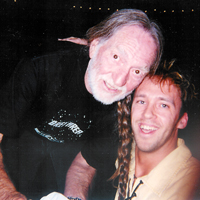 Andy en Willie Nelson